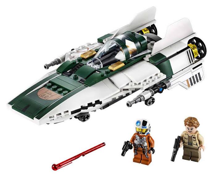 Contenido de Lego® 75248 Caza Estelar Ala-A de la Resistencia