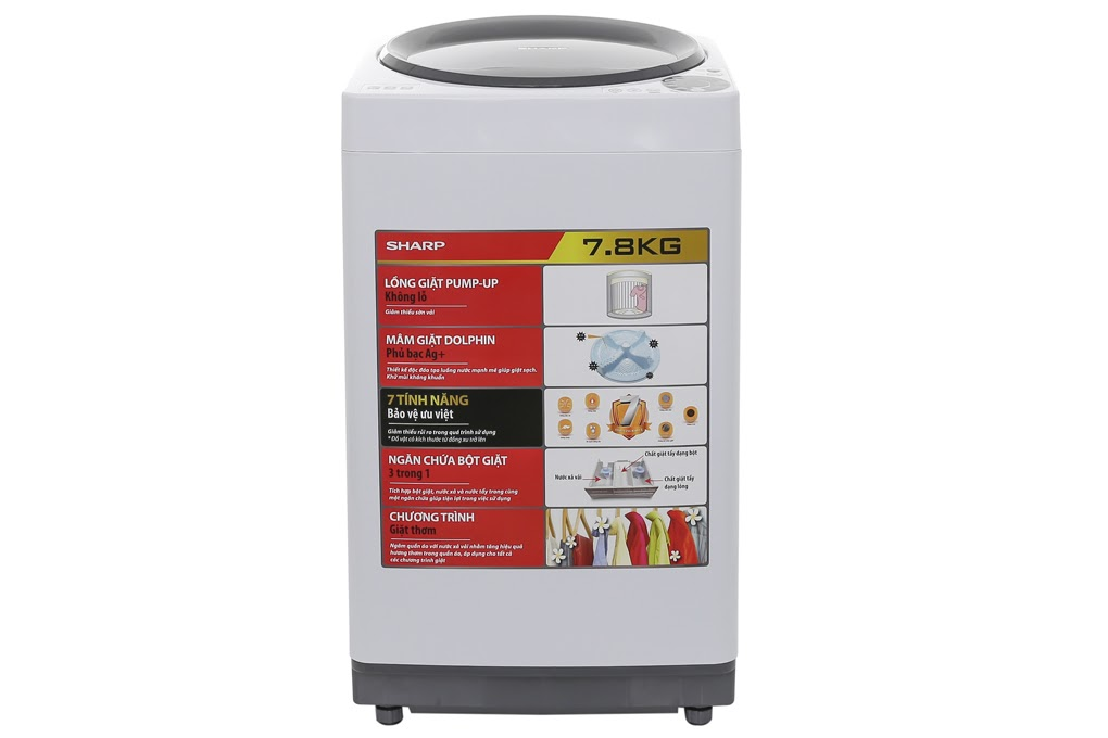 Máy giặt Sharp ES-U78GV-H có mức giá dướng 5 triệu