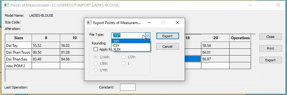 Gerber Pattern Design Point of Measurement: Cách Tạo Bảng Đo Thông Số 14