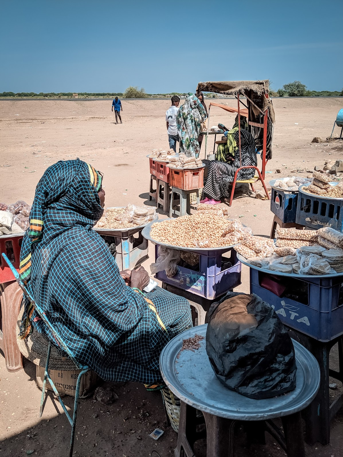 Peanut seller in Sudan