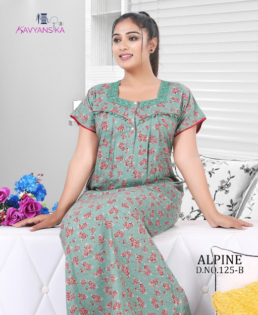 Kavyansika Alpine Vol 125 Branded Night Gowns Catalog Lowest Price