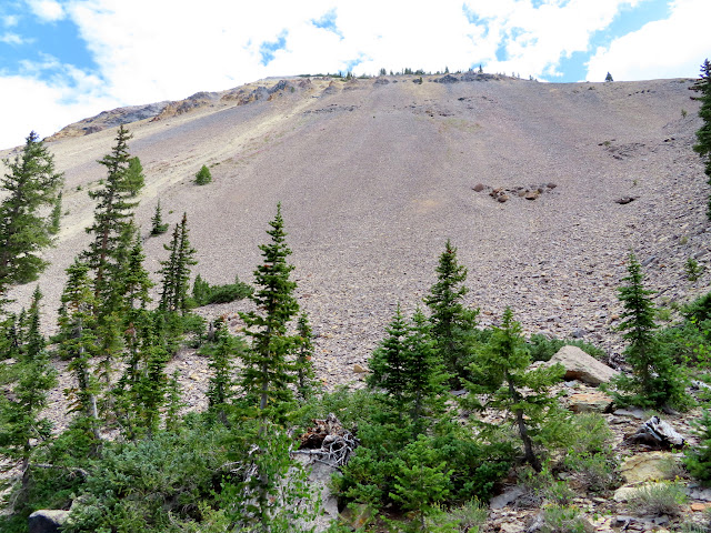 Massive talus slope