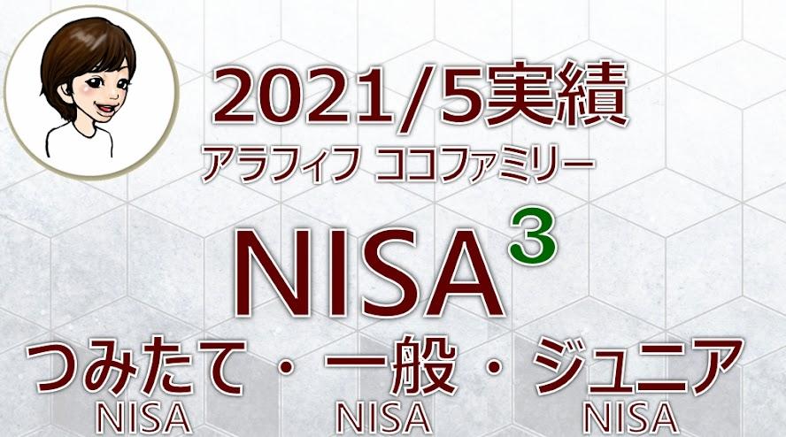 アラフィフ主婦ココファミリーの楽天証券のNISA口座2021年5月度実績