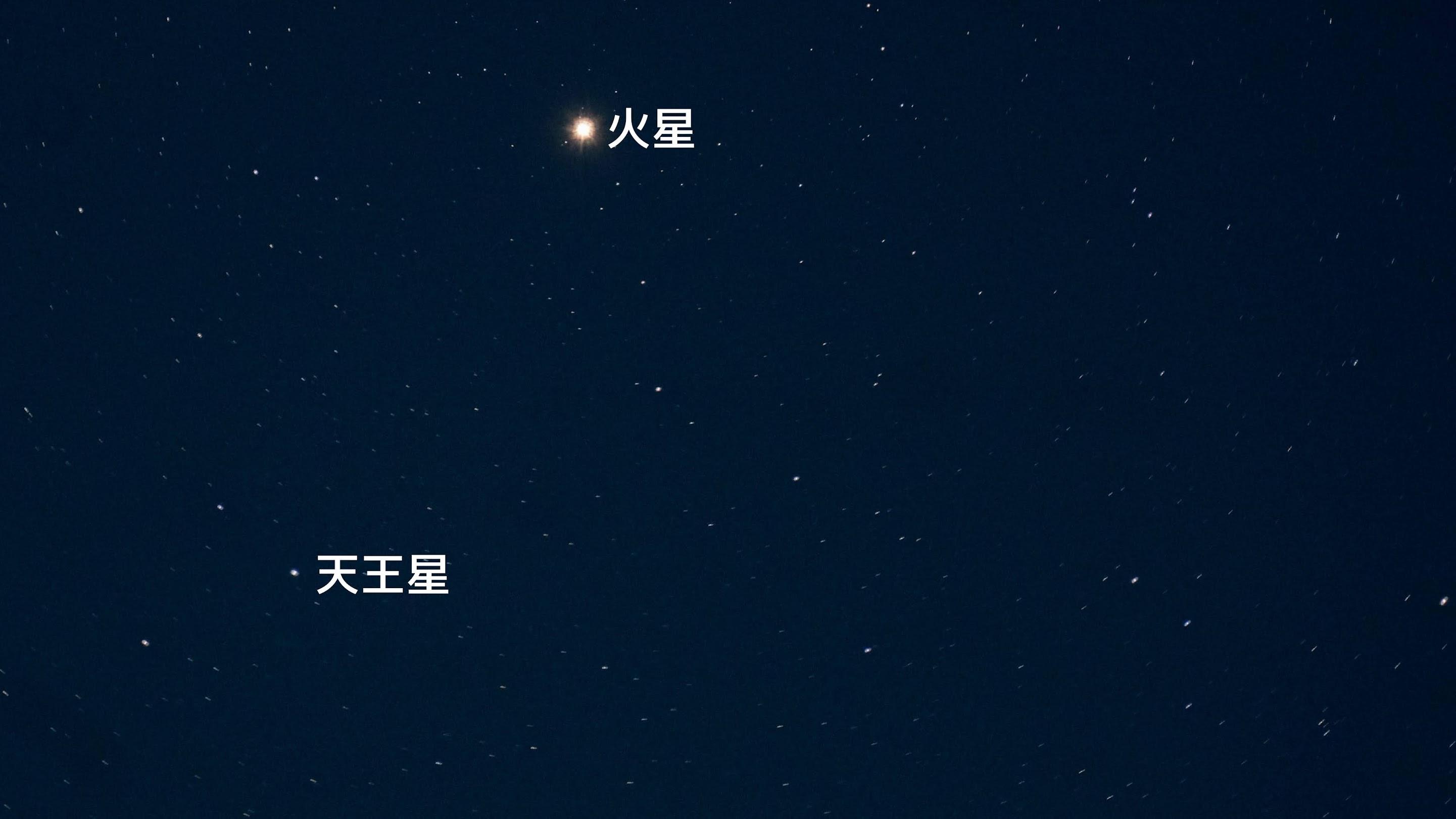 火星と天王星が大接近(2021/01/20)