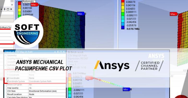 Бесплатное ACT-расширение CSV Plot для отображения произвольных данных на модели в Ansys Mechanical
