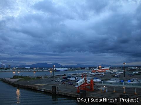 太平洋フェリー「きそ」 甲板 苫小牧出港_03