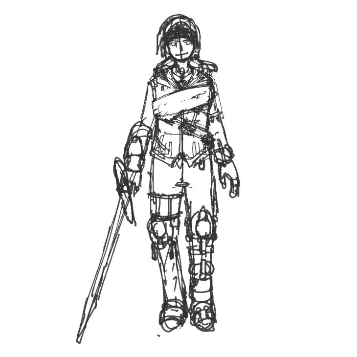 オリジナルキャラクター正面図