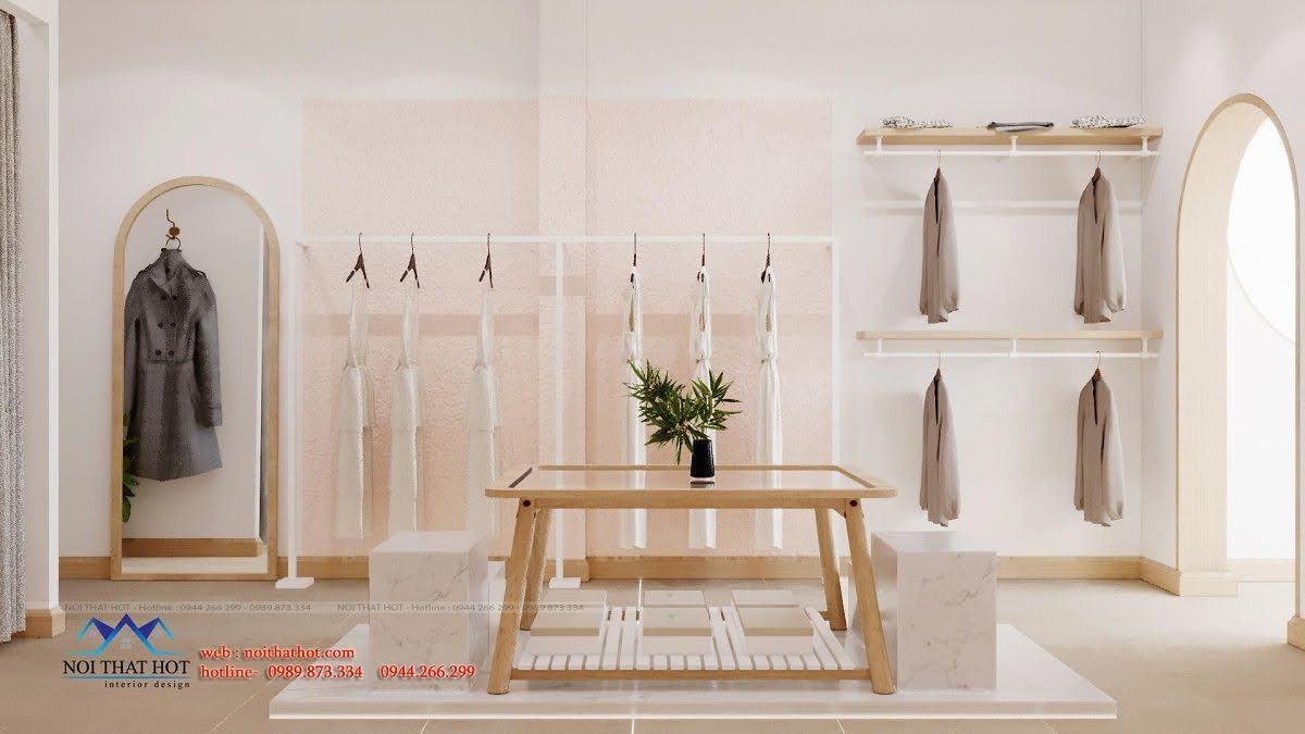 Thiết kế nội thất shop thời trang 110m2