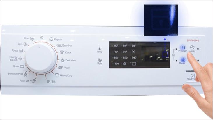 Tắt chế độ khoá trẻ em máy giặt Electrolux