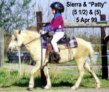 Sierra riding Patty