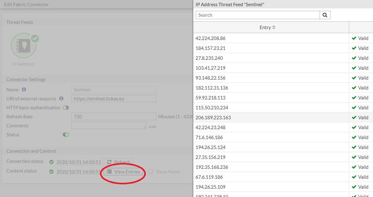 Seznam IP adresa