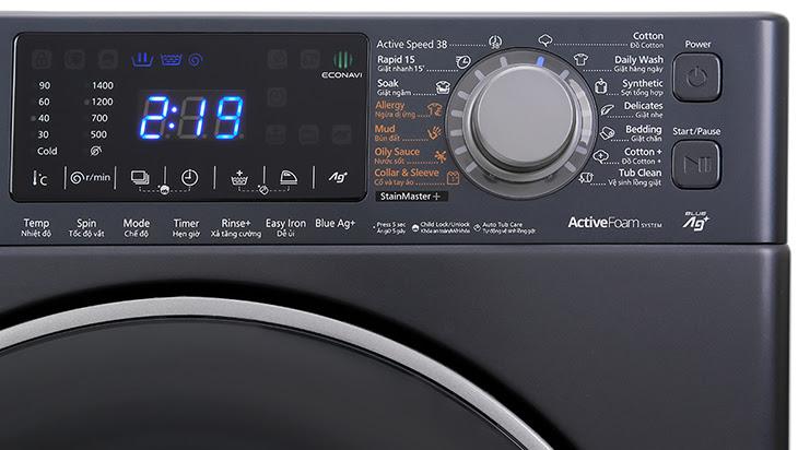 bảng điều khiểm máy giặt Panasonic FX2