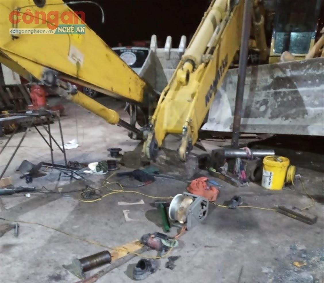 Hiện trường vụ tai nạn lao động khiến một công nhân tử vong