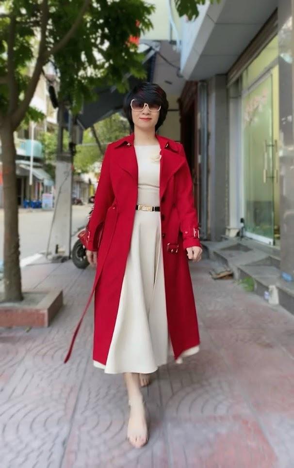 Áo khoác măng tô nữ dáng dài mùa thu đông V747 thời trang thủy hà nội