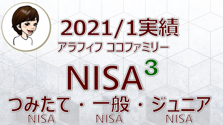 アラフィフ主婦ココファミリーの楽天証券のNISA口座2021年1月度実績