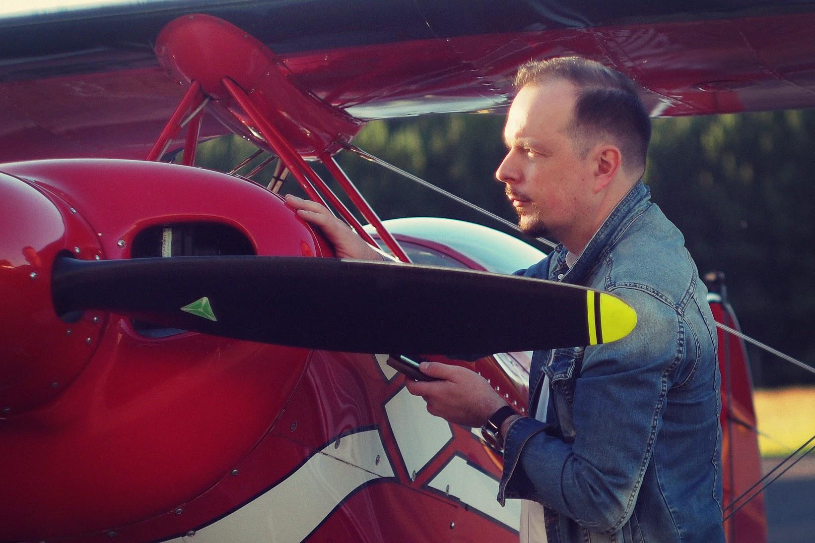 Sebastian Margalski - samolot akrobacyjny Pitts