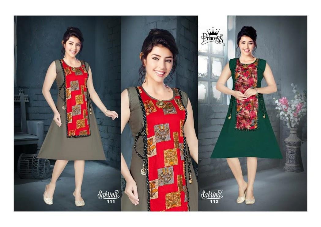 Sabrina Princess Branded Knee Length Kurtis Manufacturer Wholesaler