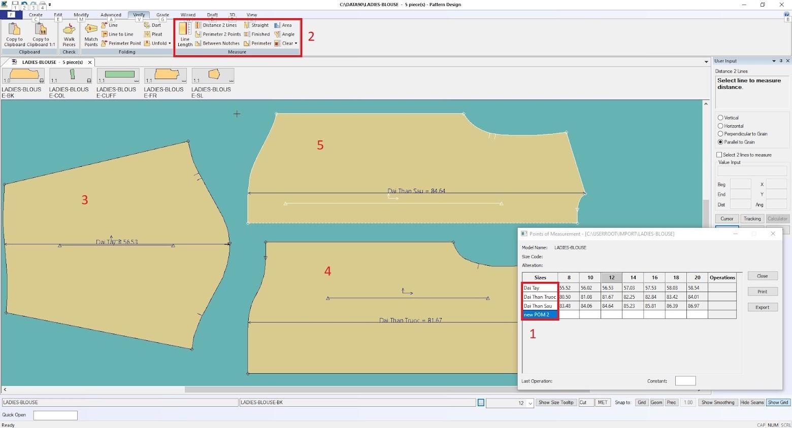 Gerber Pattern Design Point of Measurement: Cách Tạo Bảng Đo Thông Số 9