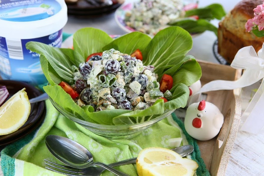 Chicken Pak Choi Salad with Greek Yoghurt Dressing
