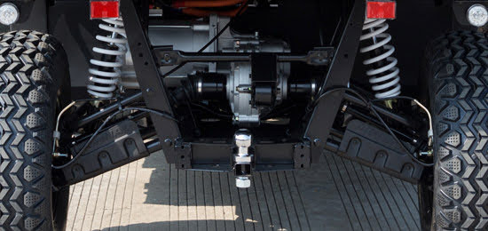 Electric E5 Farm UTV utility vehicle 2wd independent rear suspension and towbar