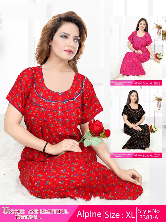 Kavyansika Alpine 3383 Branded Night Gowns Catalog Lowest Price