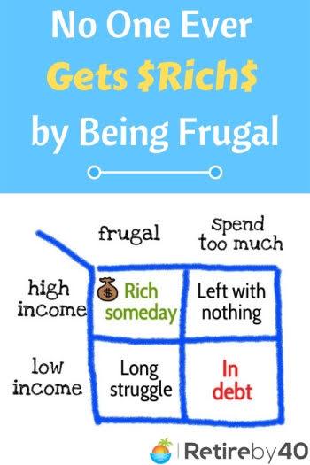 Ninguém nunca fica rico sendo frugal