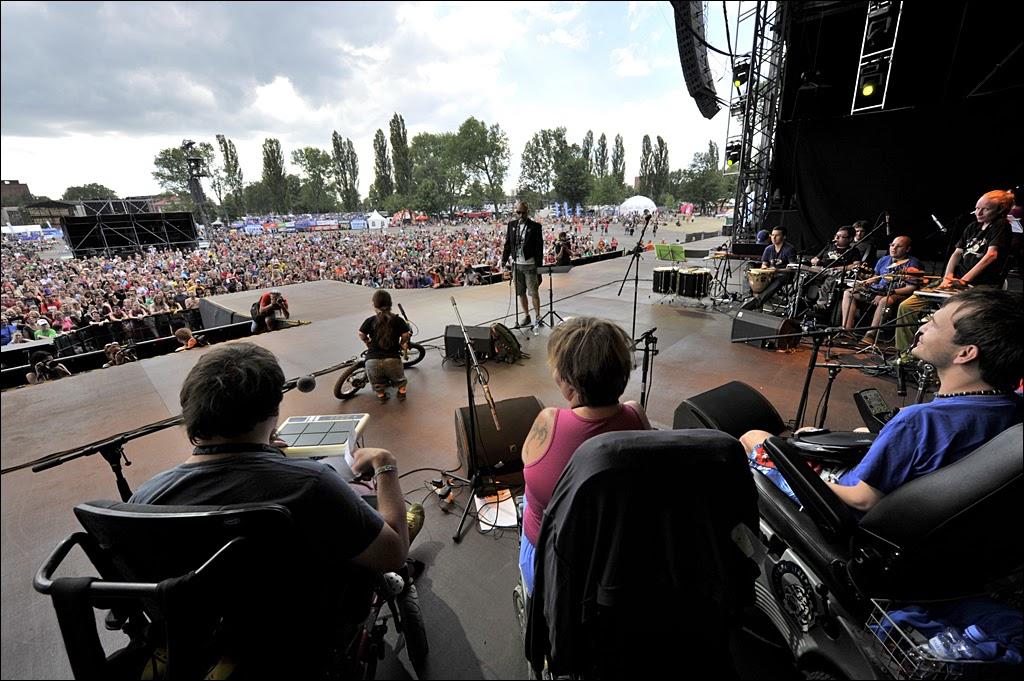 Kapela The Tap Tap počas koncertu