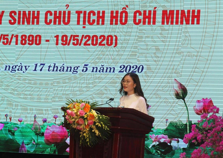 Phan Thị Quỳnh Trang, Chủ tịch Hội sinh viên Trường Đại học Vinh phát biểu cảm nghĩ
