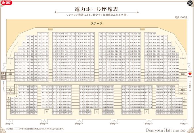 電力ホール 座席表