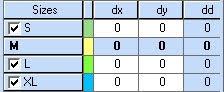 Tạo Rập Lồng Size Trong Optitex PDS Từ Rập Size Đơn 2