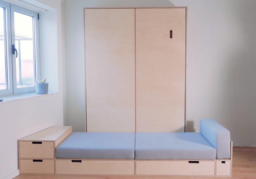 фотография откидной кровати и дивана из фанеры