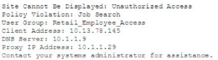 A member of the human resources department is searching for candidate resumes and encounters the following error message