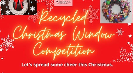 'Recycled' Christmas Window competition