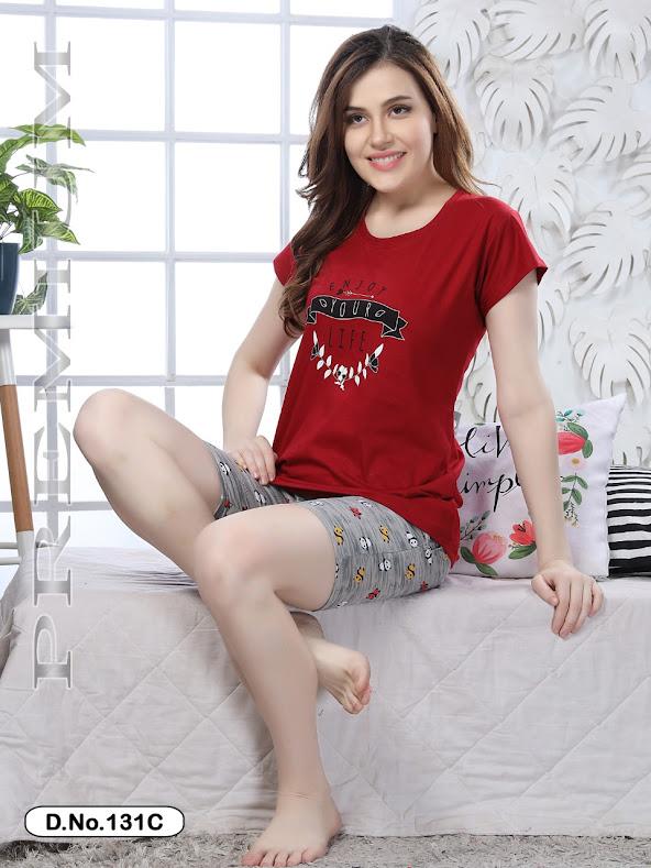 Premium Vol 131 Kavyansika Shorts Night Suits Manufacturer Wholesaler