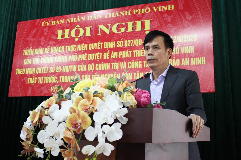 Đồng chí Trần Ngọc Tú - Chủ tịch UBND TP Vinh chỉ đạo quyết liệt các ban, ngành, phường, xã trên địa bàn tăng cường công tác phòng, chống pháo, giải tỏa hành lang ATGT, TTĐT trước, trong và sau Tết Nguyên đán Tân Sửu 2021.