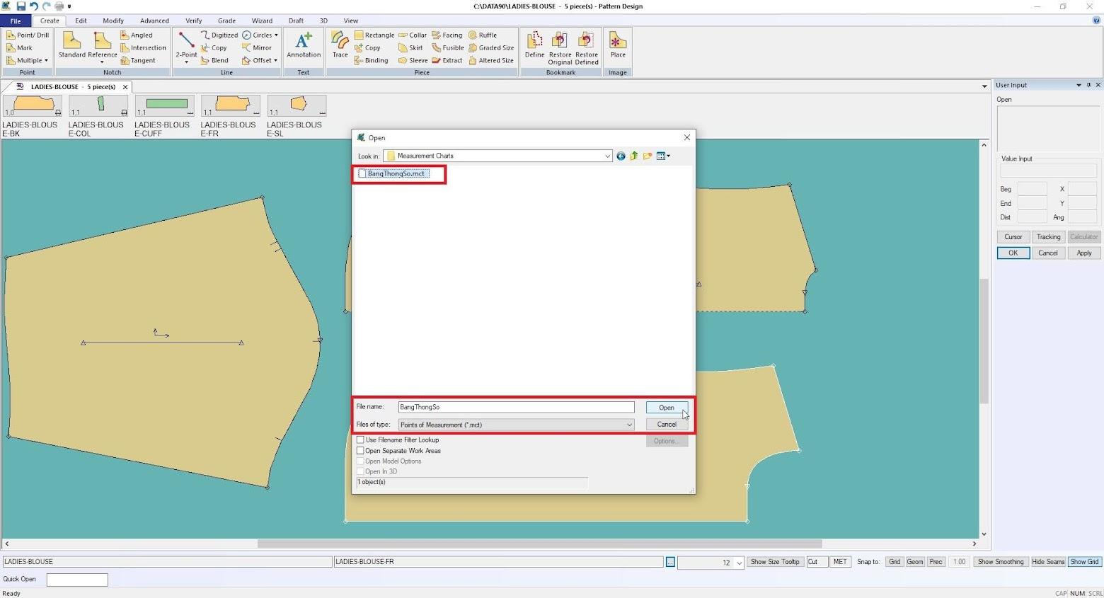 Gerber Pattern Design Point of Measurement: Cách Tạo Bảng Đo Thông Số 5