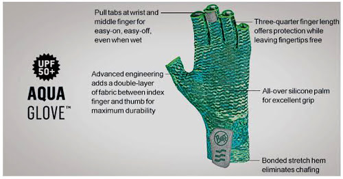Buff Agua Glove Features