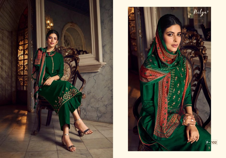 Buy Lt Nitya Fairy Stitched Pant Style Suits Catalog Online