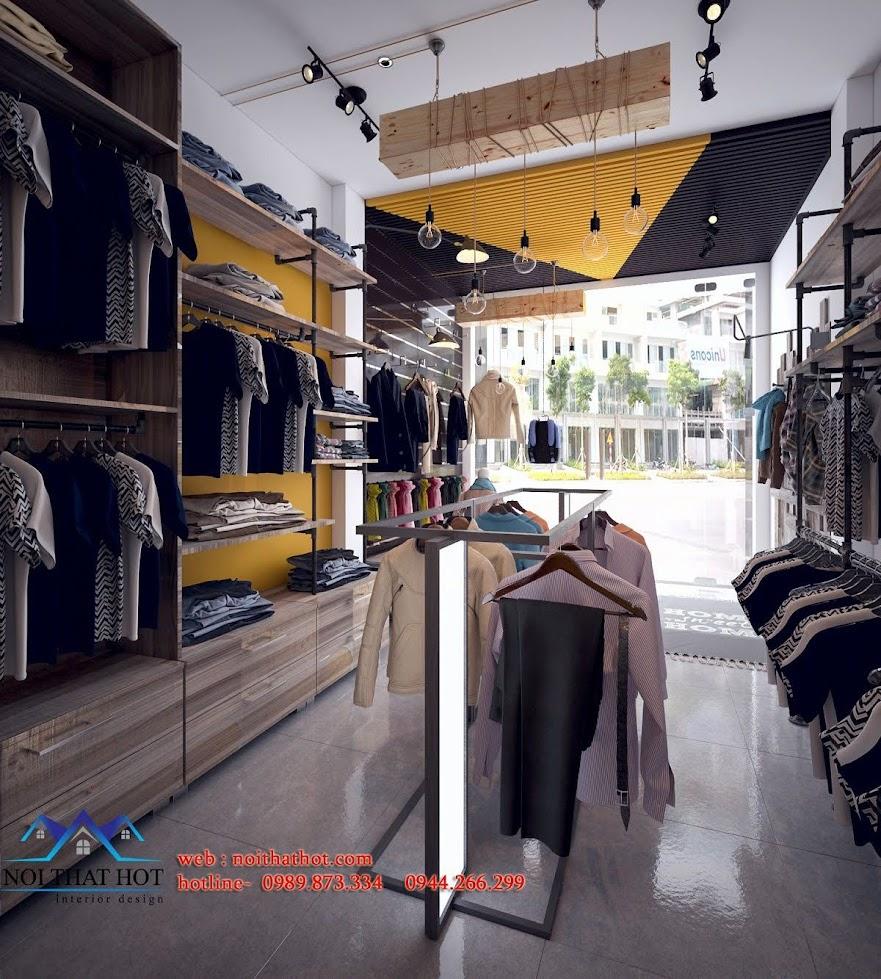nội thất shop quần áo nam
