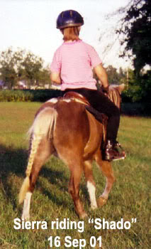 Sierra & Shado riding - Parkton, NC - 2001