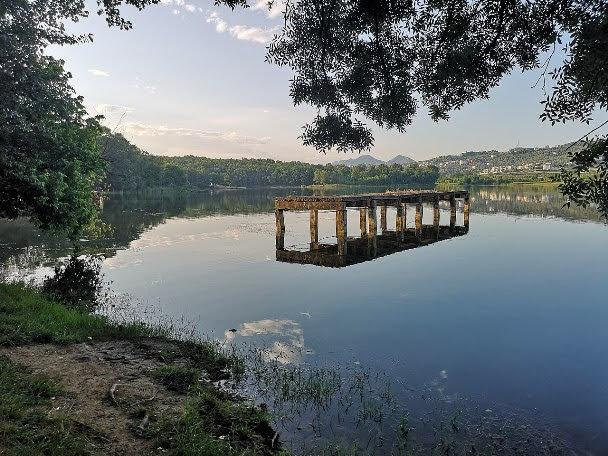 the artificial lake of Tirana