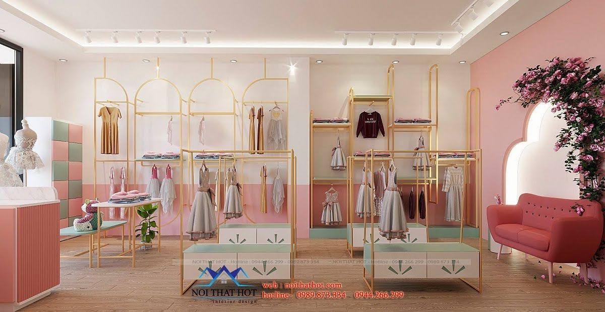 Giá treo quần áo shop trẻ em
