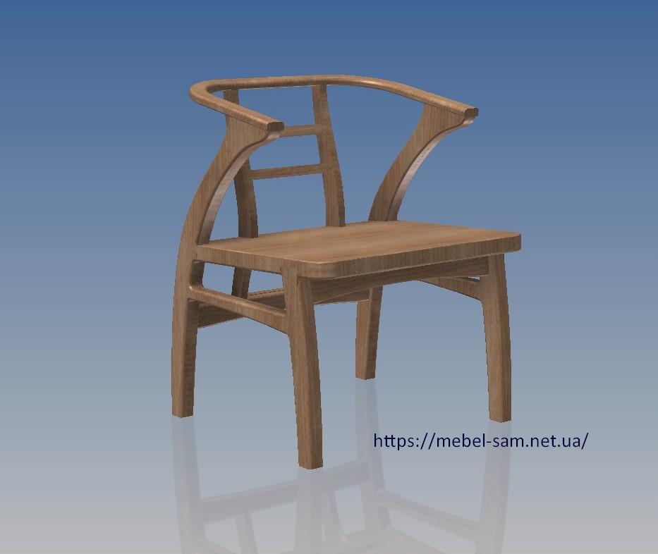 модель кресла из фанеры - вид со сглаживанием