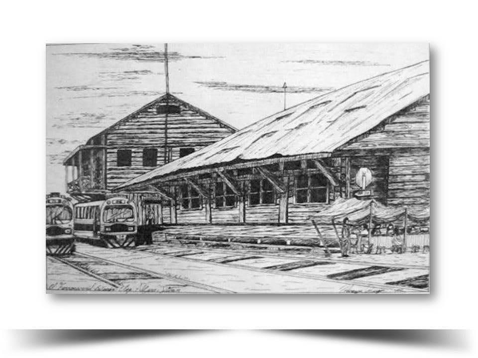 Antigua Estacion del Ferrocarril en el Canton Duran Obra del Artista Ecuatoriano Lalinchi Arreaga Burgos E.E.A.B