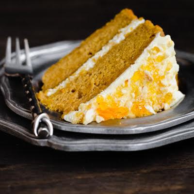 PUMPKIN PRALINE CAKE