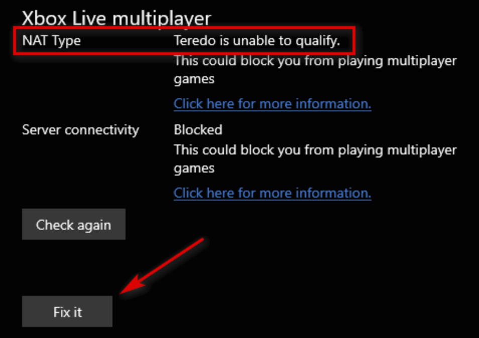Fix the NAT Type in Xbox Live multiplayer