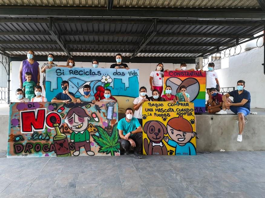 "Taller de Grafiti dentro de la actividad ""Verano Joven Constantina 2020"""