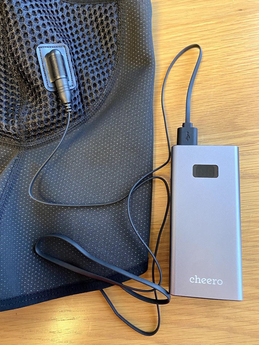 フェイルマスクとモバイルバッテリー接続
