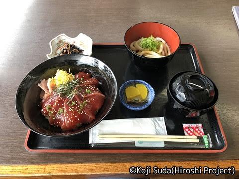 内宮前 昼食(「てこね寿司」と「伊勢うどん」)