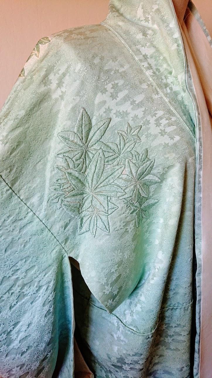 Result: Hand Embroidery Fix on Kimono | FAFAFOOM.COM